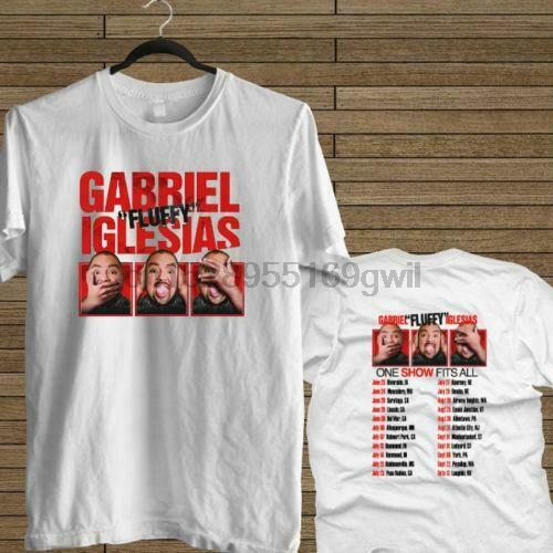 New Gabriel Fluffy Iglesias One Show Fits All White Tee Usa Size T-Shirt En2