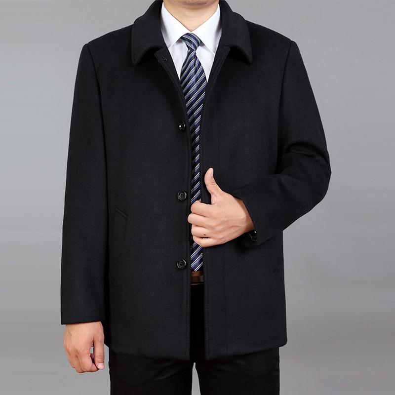 2020 Spring Men Wool Coat Wool Blend Jacket Autumn Wool Cashmere Jacket Male Pea Coat Winter Woolen Coat Overcoat Plus Size 7XL