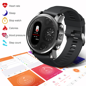 Image 2 - LEMFO Smart Uhr Business Männer Dual Time Zone Display Herz Rate Monitor Fitness Tracker Wasserdichte Uhr Für Android IOS