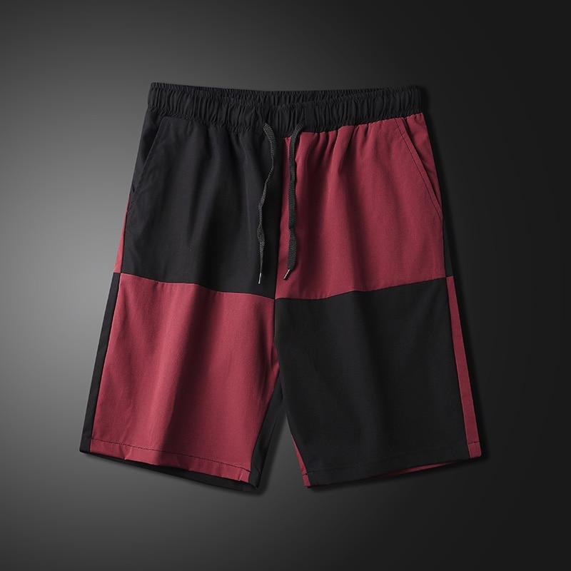 New Style Casual Men's Shorts Summer 2020 Cool Black White Drawstring Waist Bermuda Shorts Checkered Hot Male Elastic Waist 4XL
