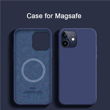 Thin Soft Case For iPhone 12 Magsafe Wireless Charging Liquid Silicone Cover Candy Coque Capa For iPhone X Xs 11 12 Pro Max XR