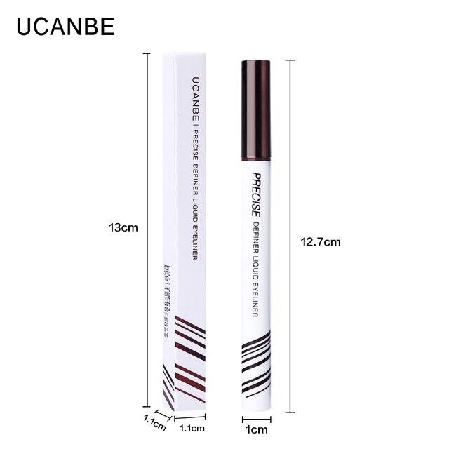 UCANBE Eyeliner Liquid Pen Precise Definer Eye Liner Pen Black Brown Waterproof Long Lasting Makeup Ultra-fine Tip Quick-dry 5