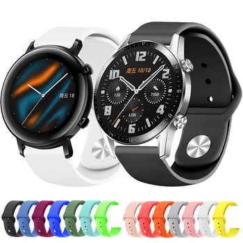 for Huawei Watch GT2 GT 2 GT 42mm 46mm Smart Watch 20mm watch strap Silicone Sport Replace Watchbands 22mm watch band bracelet metal wrist strap for huawei watch gt 2 46mm 42mm gt active band bracelet for honor magic replaceable accessories watchbands