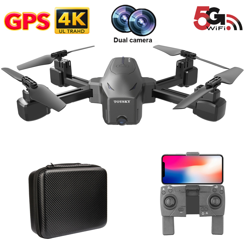 S176 Drone 4K GPS HD dual camera 5G FPV image optical flow FOLLOW ME Helicopter Altitude Hold RC Quadcopter mini Dron VS SG907 image