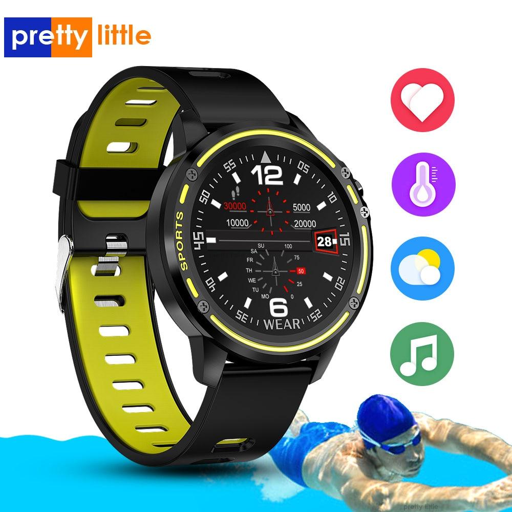 L8 montre intelligente hommes ECG + PPG IP68 étanche pression artérielle fréquence cardiaque Fitness Tracker sport Smartwatch VS L5 L7