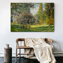 Claude Monet Park Canvas Painting Prints Wall Pictures For Living Room Home Decor Modern Wall Art Oil Painting Posters Pictures claude monet in the morning canvas painting print living room home decoration modern wall art oil painting posters pictures art