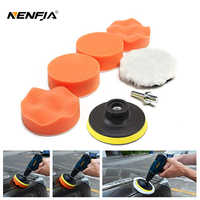 "7pcs 3"" Car Sponge Polishing Pad Set Polishing Buffer Waxing Adapter Drill Kit for Auto Body Care Headlight Assembly Repair"