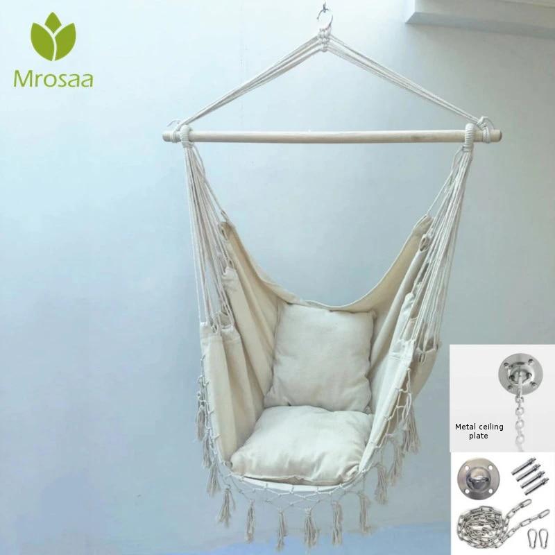 Camping Hammock Chair Outdoor Indoor Garden Bedroom Furniture Tassel Hanging Chair For Child Adult Swinging Homestay Swing Chair Hammocks Aliexpress