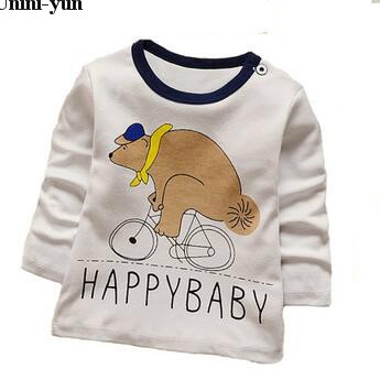 Baby Boys Summer Cartoon T Shirt Tops Tee Children Clothing Baby Boys T-Shirts Girls T Shirt Enfant Fille Toddler Clothes Autumn
