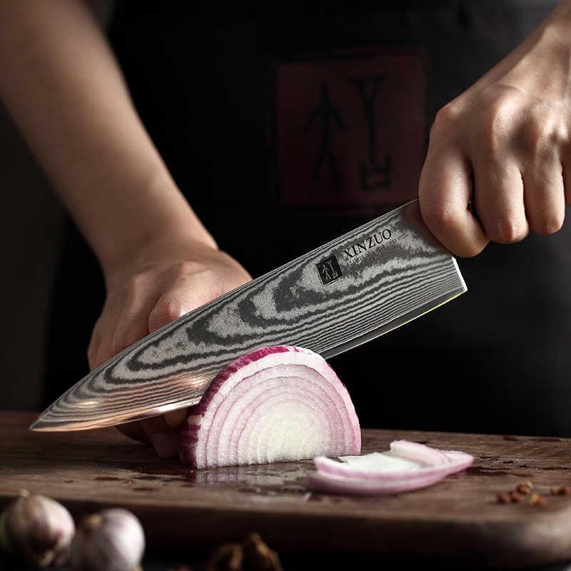 XINZUO 8 ''Coltello da Chef 67 strati Giapponese di Damasco Coltello Da Cucina Coltello Da Cucina In Acciaio Inox Strumento di Gyuto Coltelli In Legno di Rosa maniglia