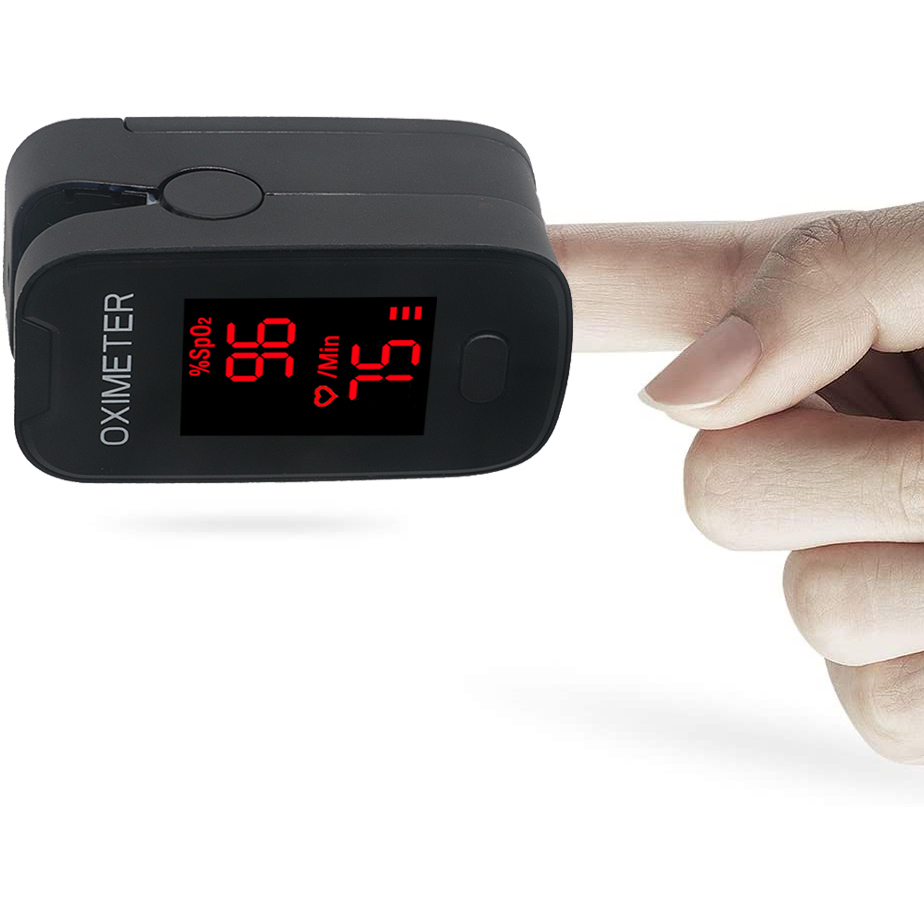In Stock Blood Oxygen Monitor Finger Pulse Oximeter Oxygen Saturation Monitor Fast Shipping (without Battery)