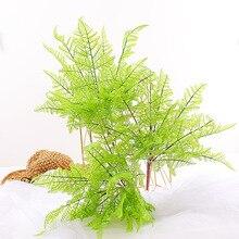 цены 7 fork Fake Artificial Plants Fern Grass Wedding Decor Green Leaf Artificial Flowers Plastic Plante for Home Garden Decoration