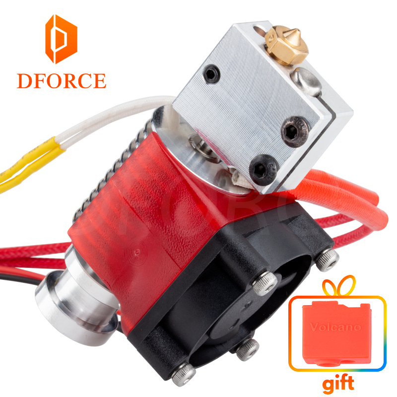 DFORCE v6 Volcano hotend 12V/24V remote Bowen print J-head Hotend and cooling fan bracket for E3D HOTEND PT100