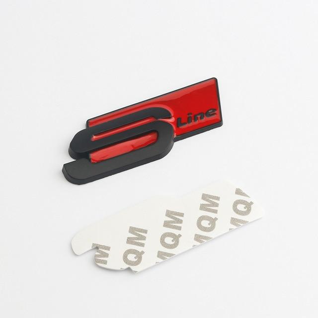 Metal Car Accessories Sticker Emblem Decal for Audi SLine Logo A3 A4 A5 A6 A7 A8 S3 S4 S5 S6 S7 S8 Q3 Q5 Q7 Exterior Decoration 3