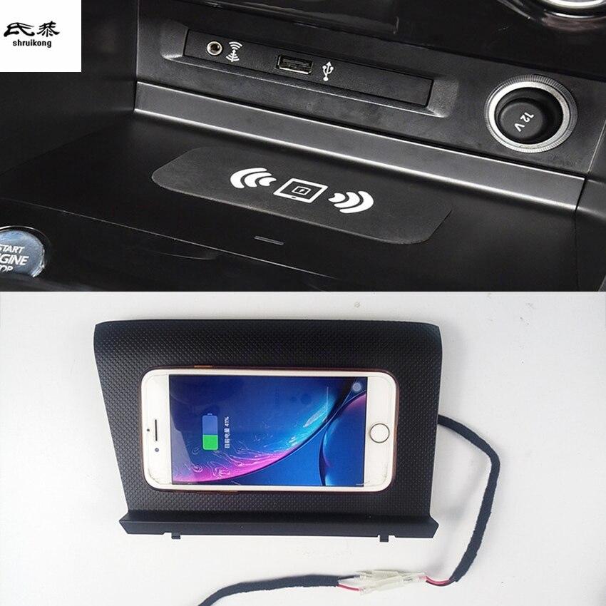 15 Вт QI Беспроводное зарядное устройство для телефона Быстрая зарядка Панель держатель для телефона для 2017-2019 Volkswagen VW Tiguan 2th MK2