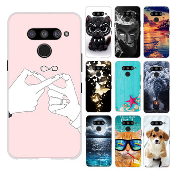 For LG V50 ThinQ 5G Phone Case Cover Silicone For LG V50 ThinQ 5G LM-V500 Flower Print Funda For LG V50 Housing Bag 6.4 Cover image