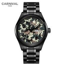 Мужские часы carnival brand Роскошные военные мужские модные