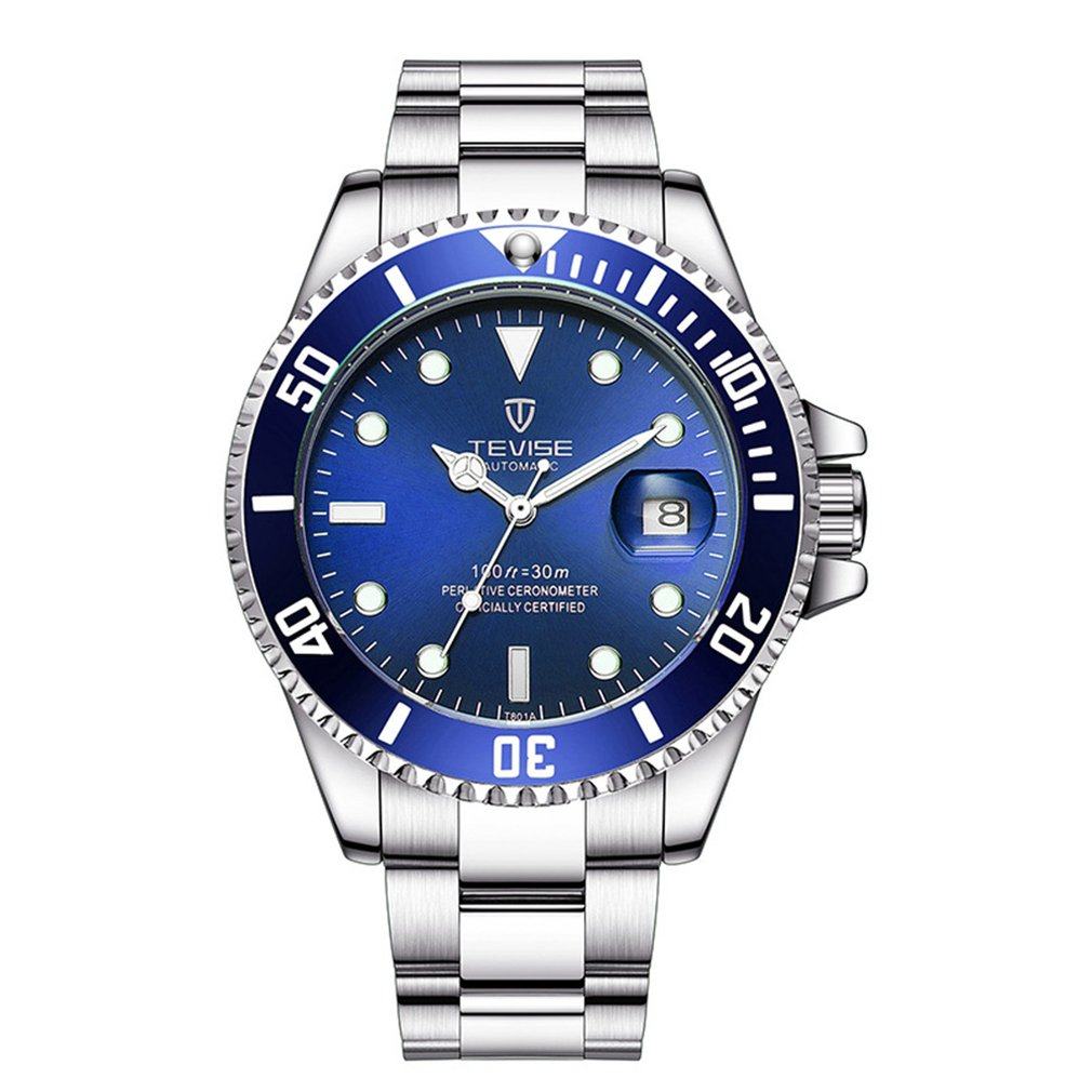TEVISE Men Watches Automatic Mechanical Watch Waterproof Diver Mens