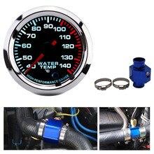 40~140 Celsius 52MM Racing Gauge Water Temperature Gauge Kit Car with Water Temp Joint Pipe Sensor Adapter Radiator 28 40MM
