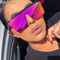 2020 женские солнцезащитные очки тренд большая оправа солнцезащитные очки UV400 для вождения классические очки для женщин