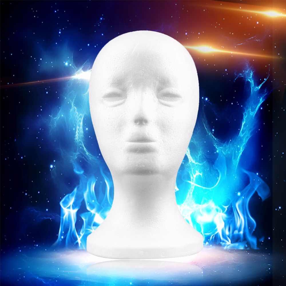 2019 新 1 pc 耐久性のあるホワイト女性発泡スチロールマネキンマネキン頭部モデル泡毛メガネディスプレイメガネ帽子ディスプレイスタンド