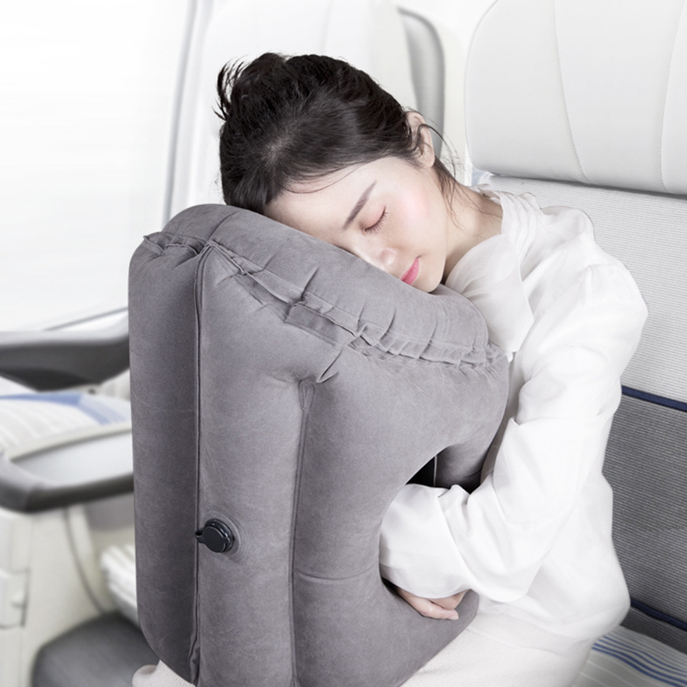 Inflatable Pillow Innovative Air Travel Neck Pillows Head Chin Support Cushion For Flights Car Airplane Kids Napping Pillows image