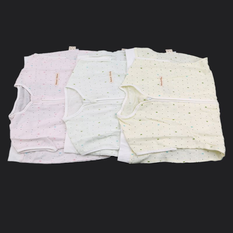 Unisex Leg Sleeping Bag Newborn Baby Bamboo Fiber Gauze Short-sleeved Polka-dot Kids Bedding Accessories