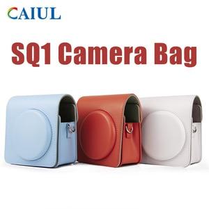 Image 1 - FUJIFILM Instax مربع SQ1 حقيبة كاميرا 4 ألوان خمر بو الجلود حقيبة الكتف حزام الحقيبة تحمل غطاء حماية