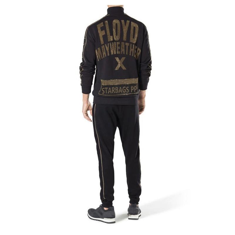 Starbags Pp Original Skull Head Brand Autumn Winter Men's Casual Sports Suit Zipper Color Diamond Fashion Logo Pants Men's Wear