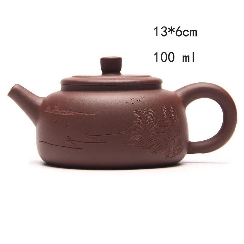 Yixing Zish Purple Clay Tea Teekanne Stone Scoop Pot Teekannen Zisha - Küche, Essen und Bar - Foto 5