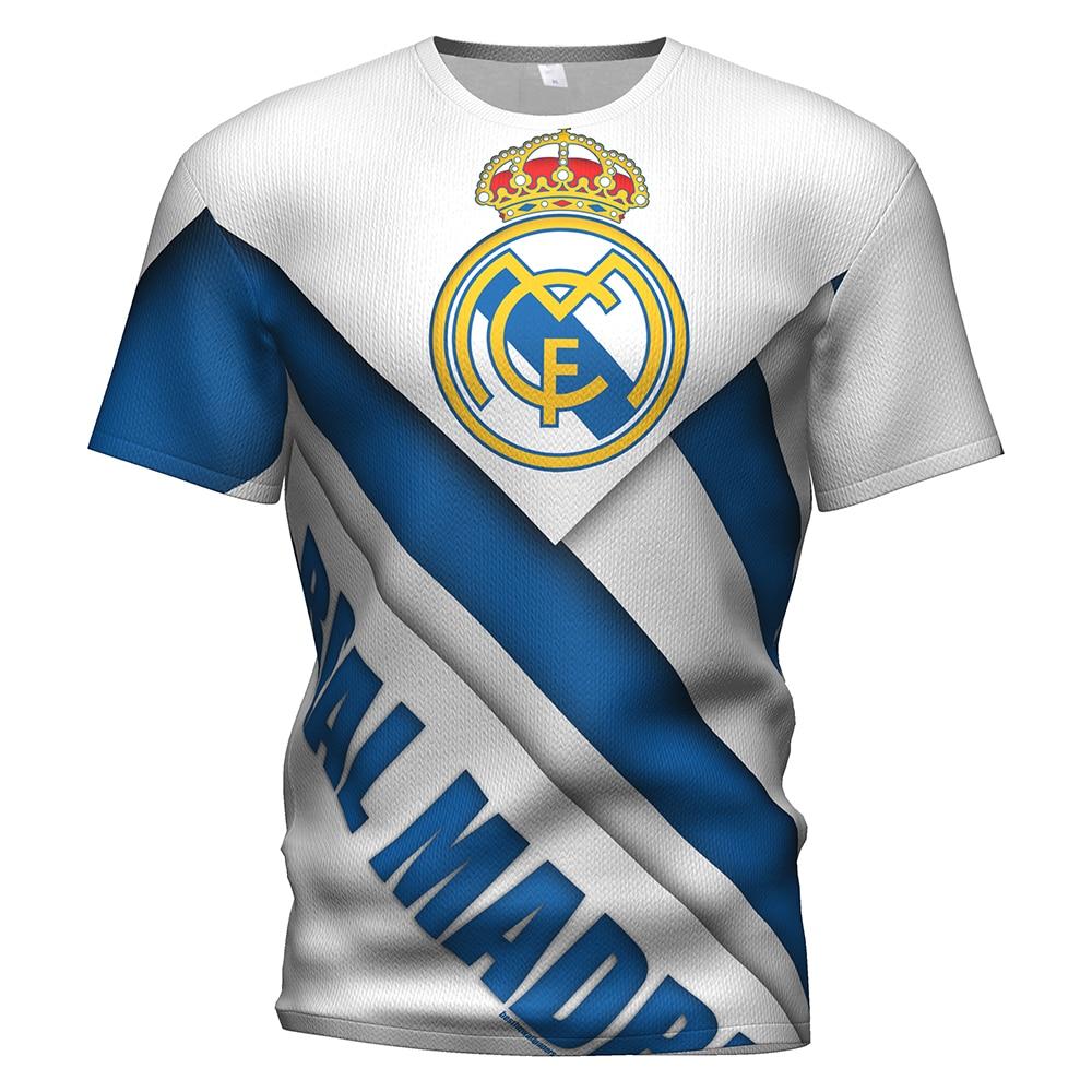 2019 Summer Real Madrid Football Soccer Jersey AAA 3d T Shirt Men/kids Real Madrid Training Tracksuit Champion Football T-shirts