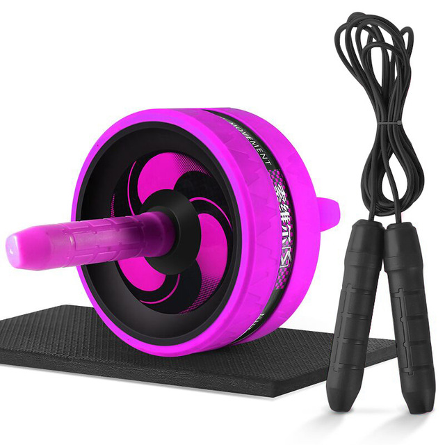 Roller&Jump Rope No Noise Abdominal Wheel Ab Roller with Mat  For Exercise Fitness Equipment Accessories Body Building 2