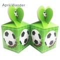 6 шт./лот Милая коробка конфет для футбола украшение для дня рождения Детские сувениры футбольвечерние подарок бумажные пакеты