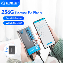 ORICO Backuper With 256G Solid State Hard Disk Automatic Backup Data Photo Video from Mobile Phone Backup to SSD