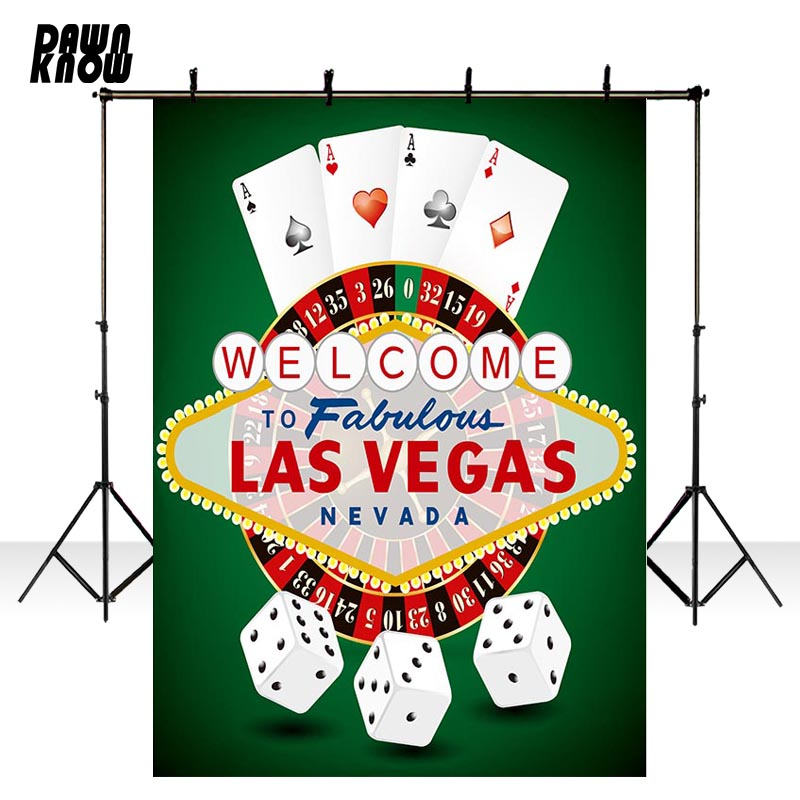 DAWNKNOW Gambling House Vinyl Photography Background For Newborn <font><b>LASVEGAS</b></font> Photo Shoot Backdrop For Wedding Photo Studio lv316 image