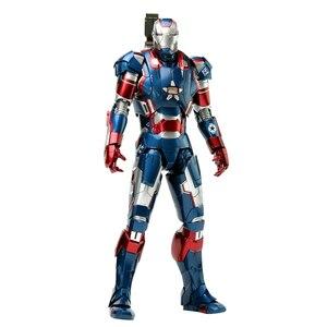 Marvel фигурка железного человека супер герой литье под давлением Железный Патриот Броня MMS195 ПВХ фигурка игрушка фигурка железного человека К...