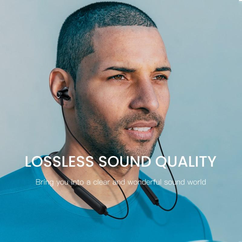 Стереогарнитура Bluetooth с шейным ремешком, беспроводные Bluetooth наушники, спортивные наушники с микрофоном для iphone 11, универсальные мобильные телефоны