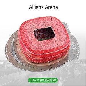 Image 5 - Puzzle 3D europejski klub piłki nożnej Liverpool miejsca DIY Model Puzzle zabawki papier budynek stadion piłka nożna montaż prezenty z motywem gry