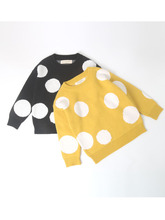 2019 Children Baby Sweaters Dot Boys Sweaters Winter Girls Sweaters Knit Kids Pullover Casual Boys Clothing 1-6 Years boys and girls cartoon sweaters 2017 autumn winter new children knitting clothes baby casual cotton knit wear pullover tops 3 8y