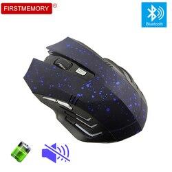 Bluetooth do gier bezprzewodowa mysz akumulator komputera cichy gwiazda mysz 6D mysz optyczna z podkładka pod mysz podkładka pod mysz dla PC Laptop Macbook Pro