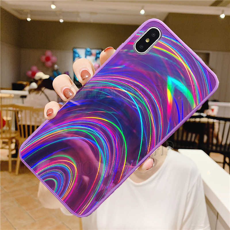 Glitter Rainbow Case For Huawei P30 P20 Lite P Smart Z 2019 Y5 Y6 Y7 Y9 2019 Mate 30 Pro Honor 9X 8X 20 10 Lite 10i 8A 8S Cover