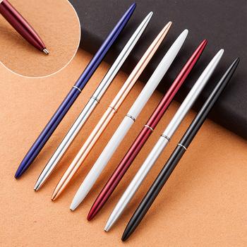 Luksusowy kreatywny śliczny Kawaii kulkowy długopis metalowy piękny szczupły rolki długopisy biznesowe pióra do pisania prezent koreańskie piśmiennicze tanie i dobre opinie MROOFUL CN (pochodzenie) 1 0mm Biuro i szkoła pen