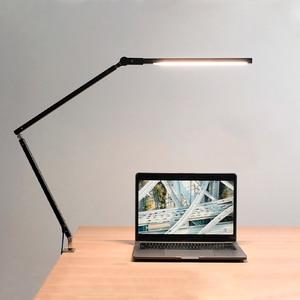 Image 1 - Artpad 8W kelepçe uzun kol masa lambası 3 parlaklık karartma katlanır ayarlanabilir LED Modern masa lambası ofis için iş okuma