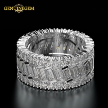 Jewepisode anillo para dedo circular de moissanita para mujer, 100% de Plata de Ley 925 pura, joyería de compromiso, regalos de navidad