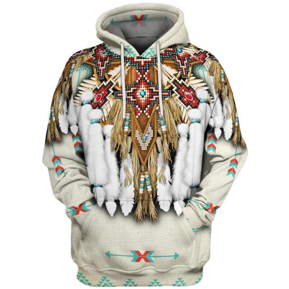 Sweatshirt Shirt Casual Indian Pullover Print Hooded Men Sweater Hoodie 3D