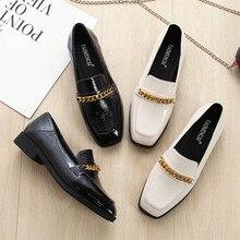Plus Size 43 Designer Women Shoes Leather Slip on Black