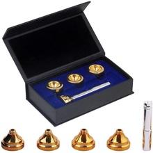 Kabriolet C klucz 4 rozmiar trąbka ustnik zestaw 3C 5C 7C 1 5C Trompeta mosiądz Sliver złoty ustnik z pudełkiem tanie tanio C Key Trumpet Mouthpiece Brass 3C 5C 7C 1-1 2C