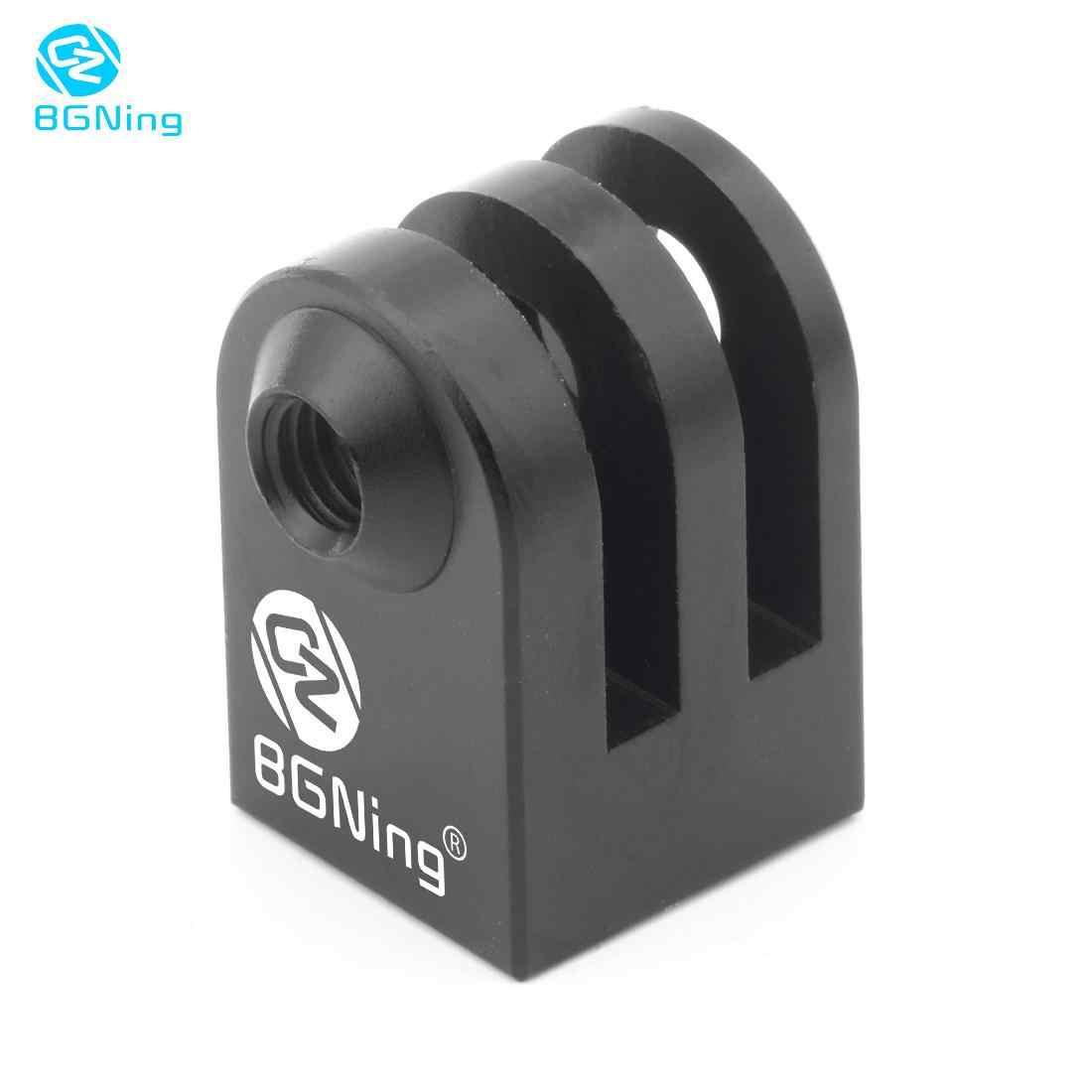 "Aluminium Mini Tripod Mount Kamera Olahraga Outdoor Dasar Adaptor untuk GoPro SupTig Semua 1/4 ""Sekrup Monopod"