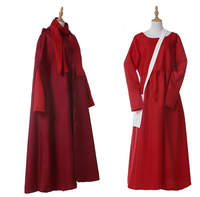 Halloween women The Handmaid's Tale Season Offred costume June Osborne red dress with cloak costumes any size