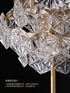 Image 4 - נורדי יוקרה LED רצפת מנורות נחושת קריסטל סלון בית תאורת חדר שינה וילה שיש אנכי אורות
